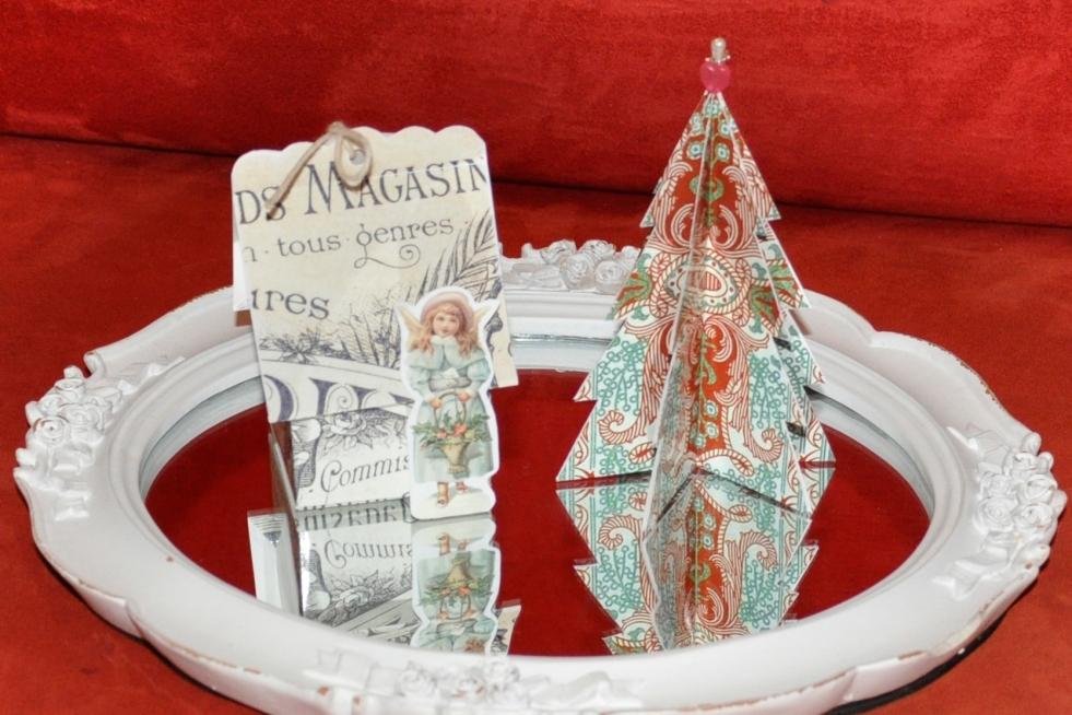 Wings of Whimsy: Vintage Christmas Village - DAY 12 - free printables #vintage #victorian #ephemera #cottage #cherub #tree