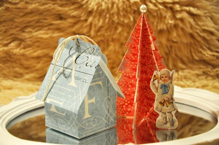 Wings of Whimsy: Vintage Christmas Village - DAY 19 - free printables #vintage #victorian #ephemera #cottage #cherub #tree