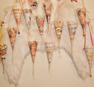 Wings of Whimsy: 12 Days of Christmas Cones - free printable #vintage #victorian #shabby #chic #ephemera