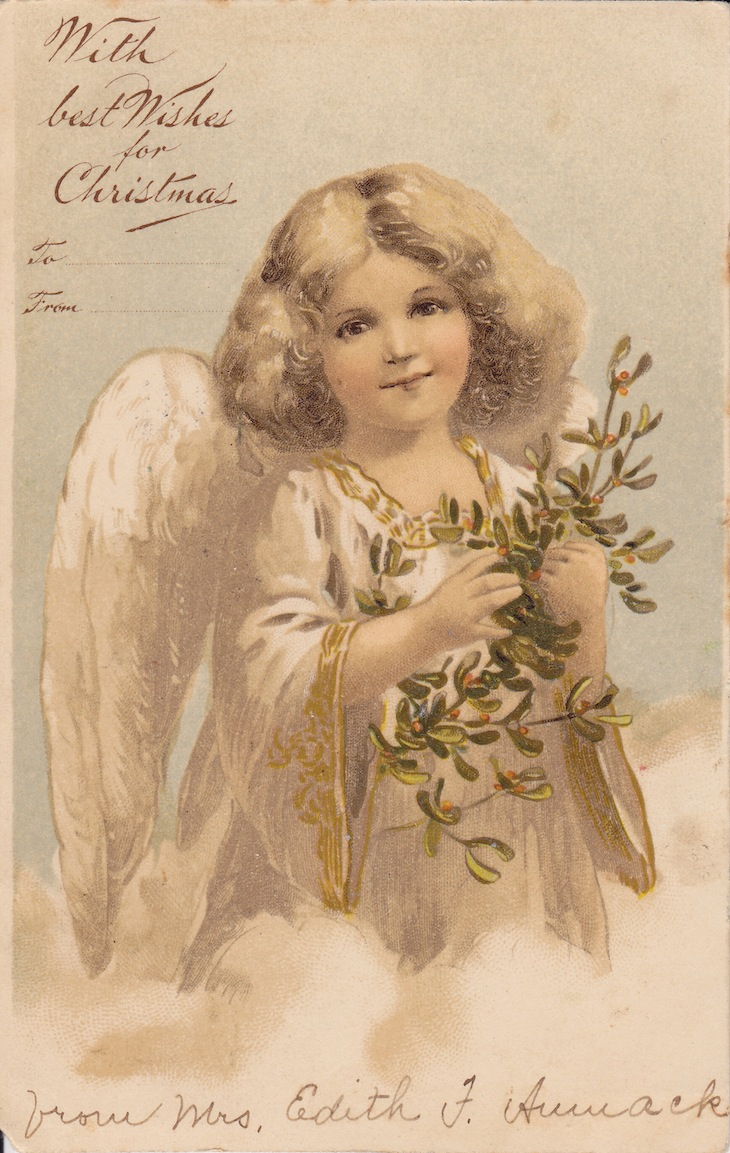 Wings of Whimsy: Gilded Christmas Cherubs - free for personal use #vintage #christmas #ephemera #printable