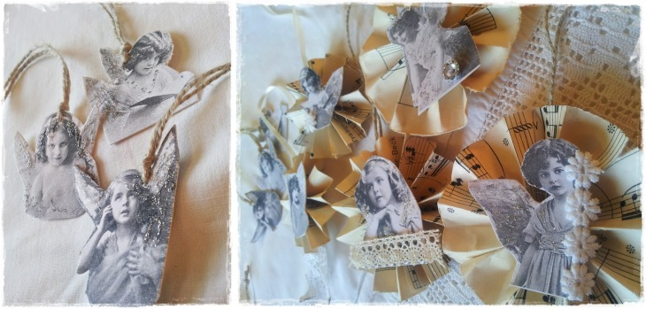 Jutta's French Christmas Cherubs & Rosettes