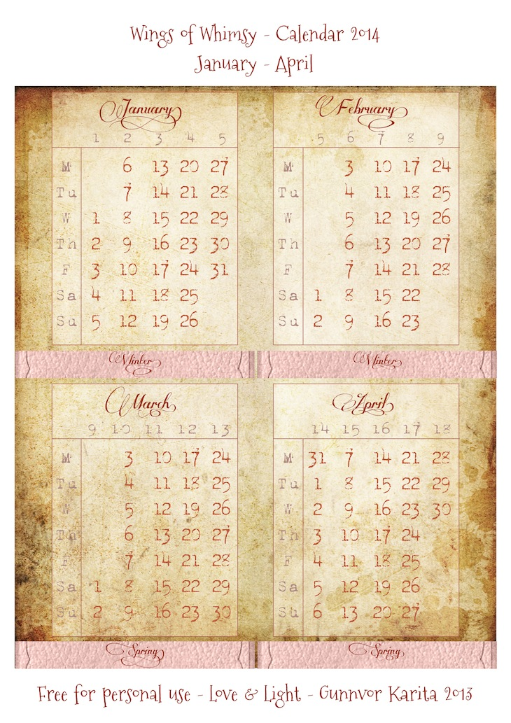 picture relating to Free Printable Ephemera titled Calendar 2014 in just Victorian Paper Body free of charge printable