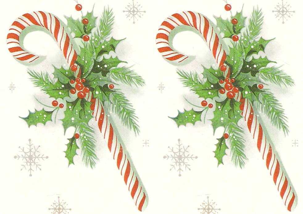 Wings of Whimsy - Candy Cane Printable Paper 3 - free for personal use #retro #ephemera #printable #freebie #christmas #peppermint #stick