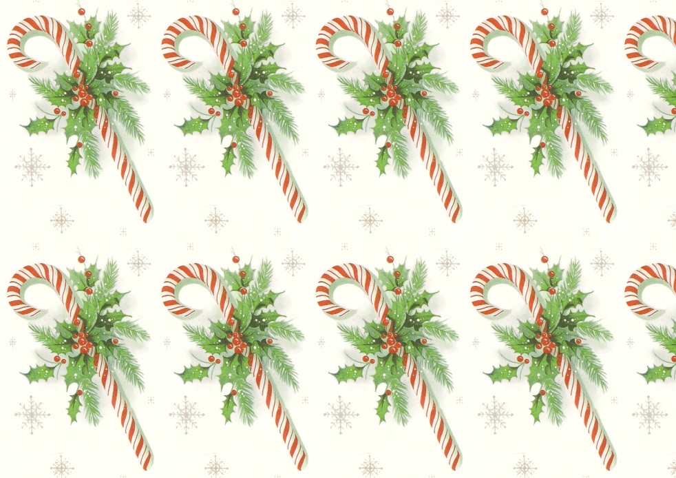 Wings of Whimsy - Candy Cane Printable Paper 1 - free for personal use #retro #ephemera #printable #freebie #christmas #peppermint #stick