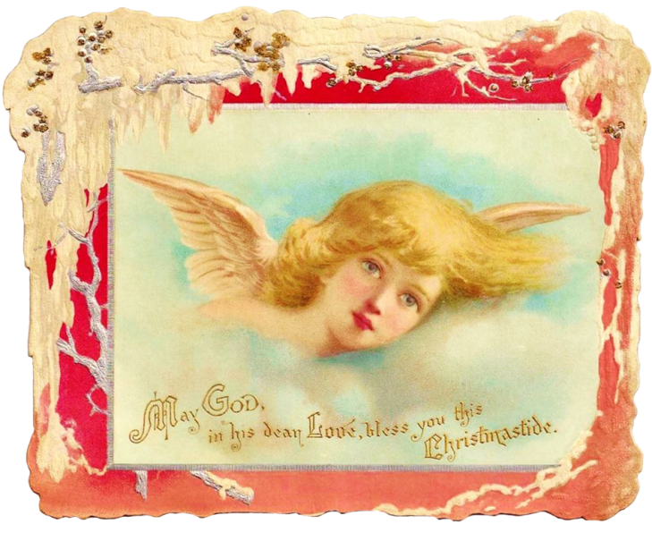 Wings of Whimsy: Girl Cherub Scrap - free for personal use #vintage #ephemera #printable