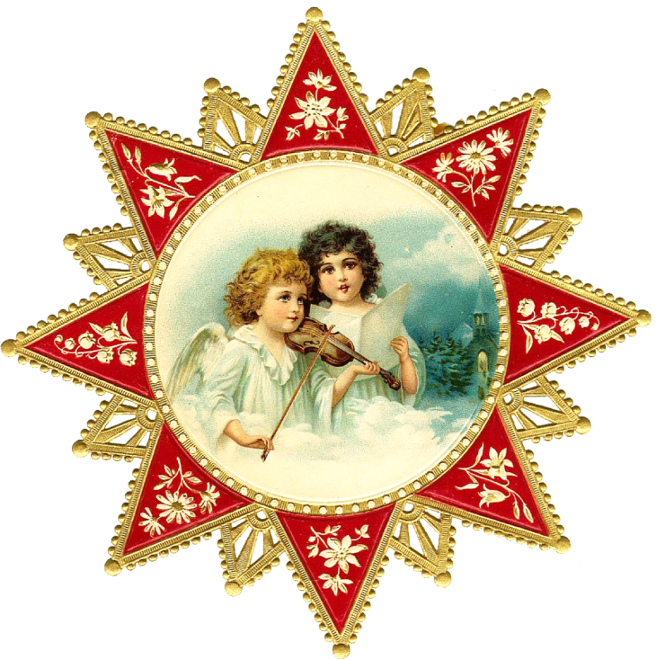 Wings of Whimsy: Cherub Star PNG (transparent backgorund) - free for personal use - #vintage #victorian #scap #ephemera #printable