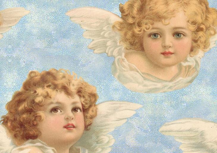 Wings of Whimsy: Cherub Paper  - free for personal use #vintage #ephemera #printable