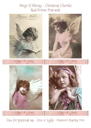 Wings of Whimsy: French RPP Christmas Cherubs - free printables #vintage #ephemera
