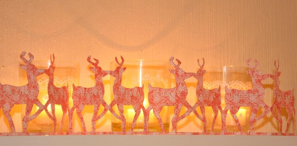 Wings of Whimsy: Christmas Paper Chain - Santa's Reindeer - free for personal use #vintage #ephemera #printable
