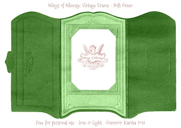 Wings of Whimsy: Vintage Cabinet Card Paper Frame - free printables #vintage #ephemera