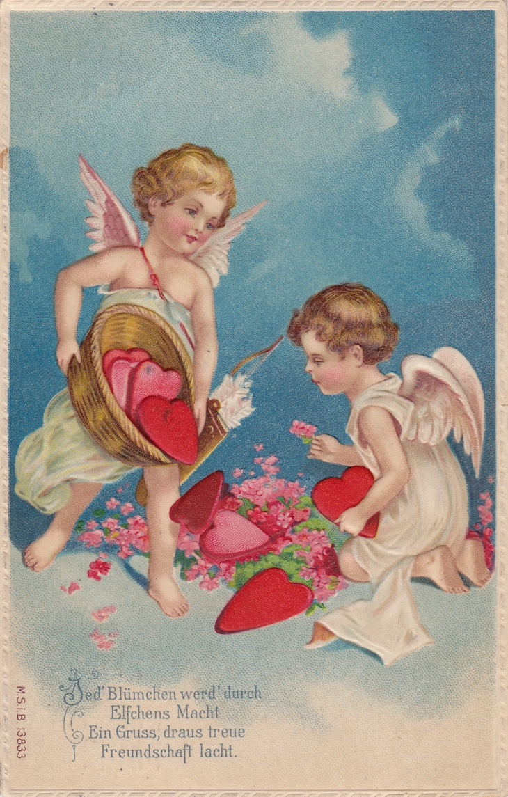 Wings of Whimsy: Cherub Hearts - free for personal use #vintage #valentine #ephemera #printable #freebie
