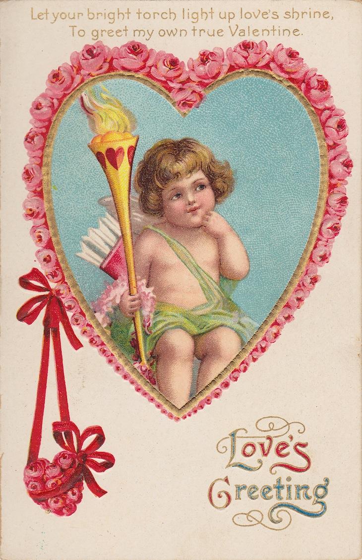 Wings of Whimsy: Cherub Rose Hearts - free for personal use #vintage #valentine #ephemera #printable #freebie