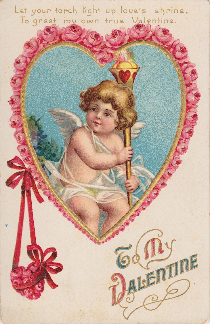 Wings of Whimsy: Cherub Rose Hearts - free for personal use #vintage #valentine #ephemera #printable #freebie