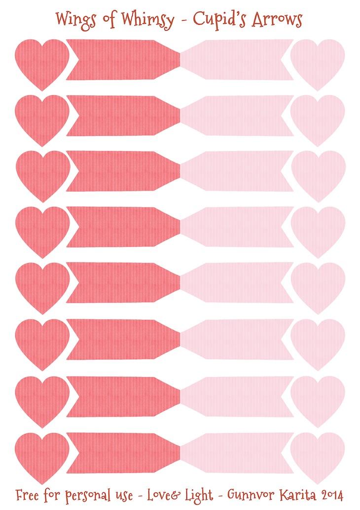 Wings of Whimsy: Cupid's Arrows Collage Sheet - free printable #vintage #valentine #freebie