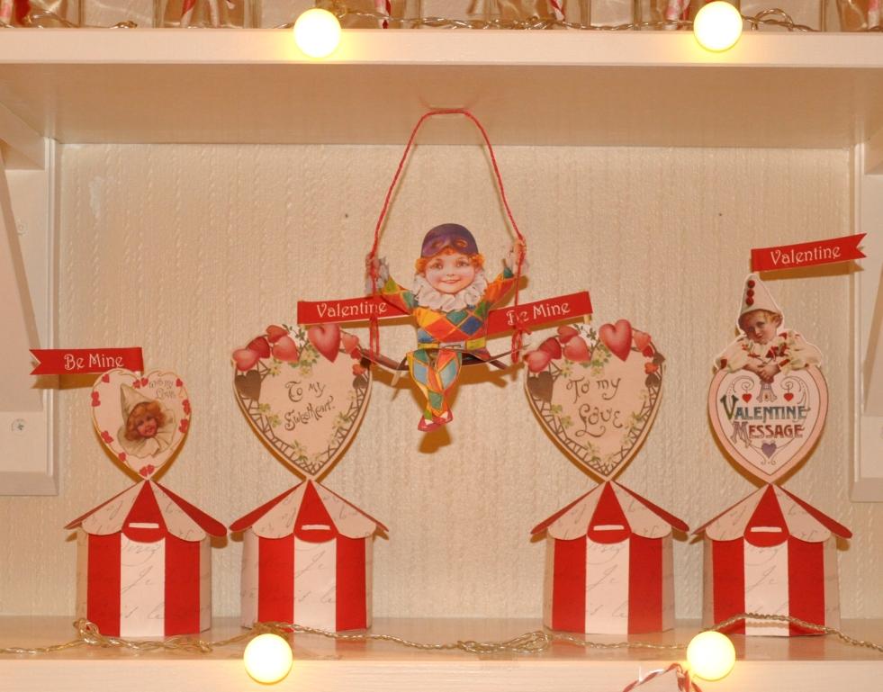 Wings of Whimsy: Vintage Big Top - free printable #vintage #valentine #freebie #circus #clown #heart #love