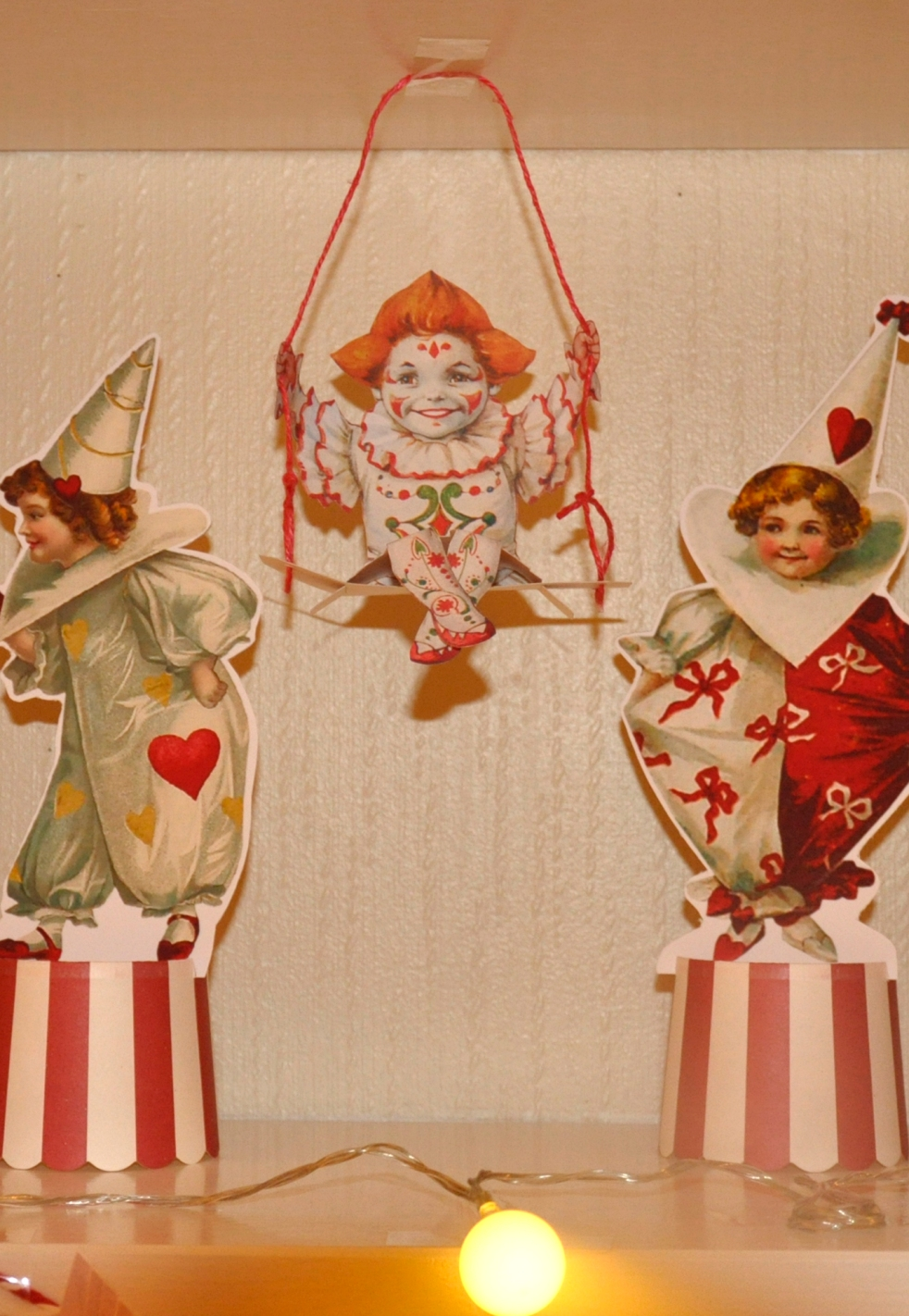 Wings of Whimsy: Swinging Pierrette - free printable #vintage #valentine #freebie