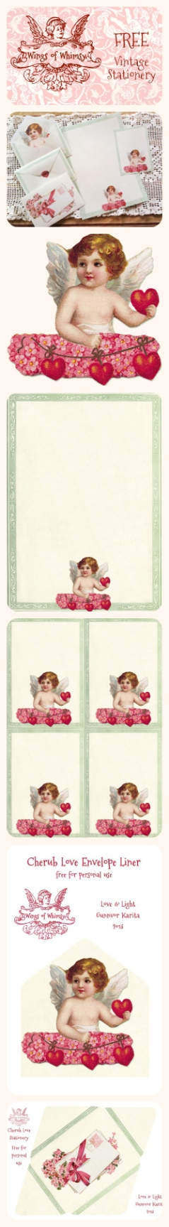 Wings of Whimsy: Cherub Love Stationery Pinfographic
