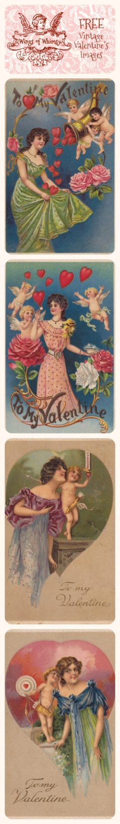 Wings of Whimsy: Valentine Ladies & Cherubs Images Pinfographic