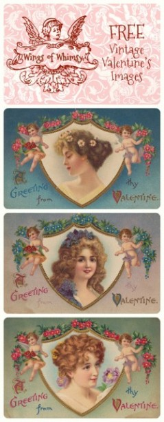 Wings of Whimsy: Cherub & Ladies Valentine Images Pinfographic