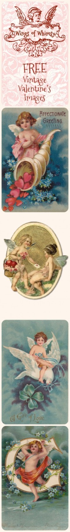 Wings of Whimsy: Vintage Valentine Cherubs Pinfographic