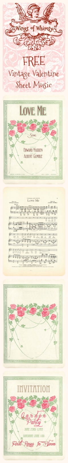 Wings of Whimsy: Love Me Sheet Music Pinfographic