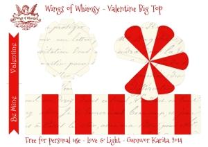 Wings of Whimsy: Vintage Big Top - free printable #vintage #valentine #freebie