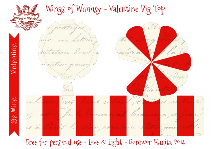 Wings of Whimsy: Vintage Big Top - free printable #vintage #valentine #freebie #circus #clown #heart #love