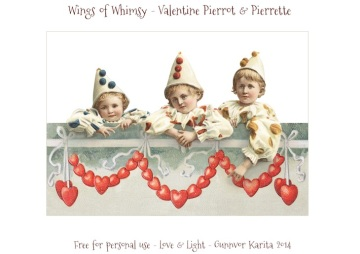 Wings of Whimsy: Vintage Valentine Pierrots & Pierrettes - free for personal  use #vintage #ephemera #printable #freebie
