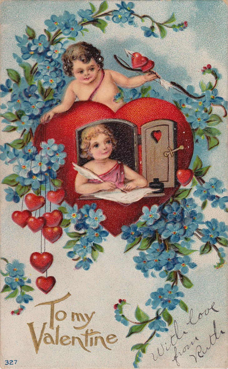 Wings of Whimsy: Cherub Flirts - free for personal use #vintage #ephemera #printable #freebie #valentine #love #cherub