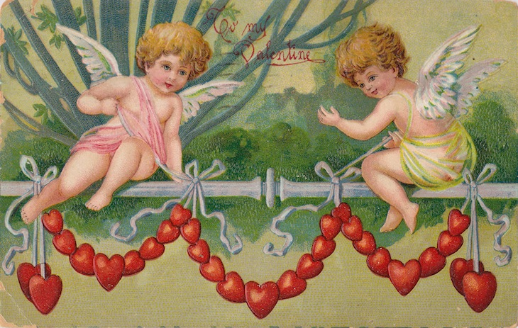 Wings of Whimsy: Cherub Heart Garland - free for personal use #vintage #ephemera #printable #freebie #love #valentine #cherub #cupid