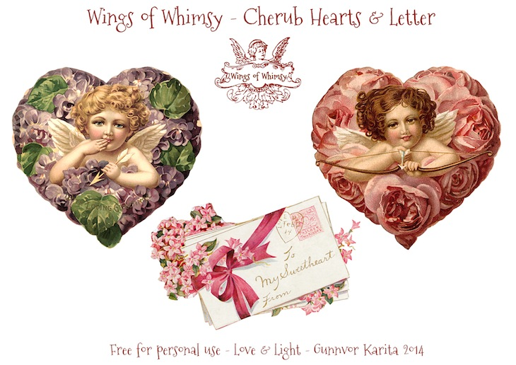 Wings of Whimsy: Love Letters From Cupid Garland - free for personal use - #vintage #ephmera #cherub #cupid #freebie #printable #valentine #garland
