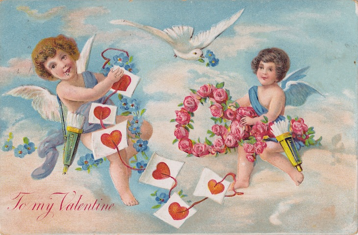 Wings of Whimsy: Cherub Skies - free for personal use #vintage #ephemera #printable #freebie #valentine #love #cherub