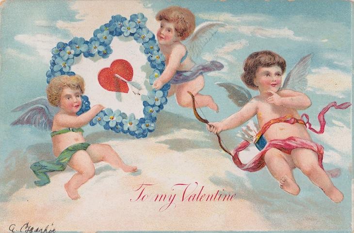 Wings of Whimsy: Cherub Skies - free for personal use #vintage #ephemera #printable #freebie #valentine #love #cherub