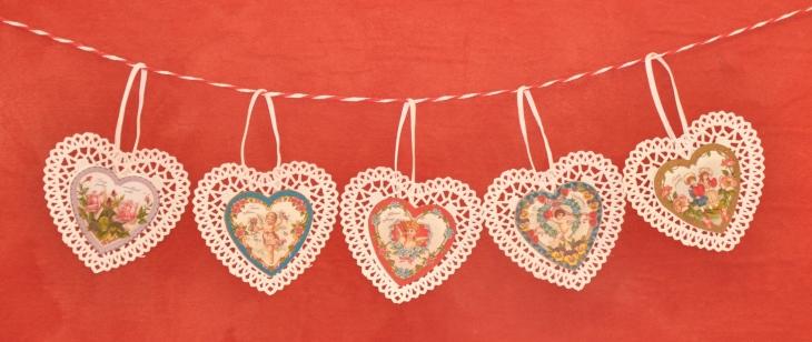 Wings of Whimsy: Valentine Hearts - DAY 2 - free for personal use #vintage #ephemera #printable #freebie #valentine #cherub #heart