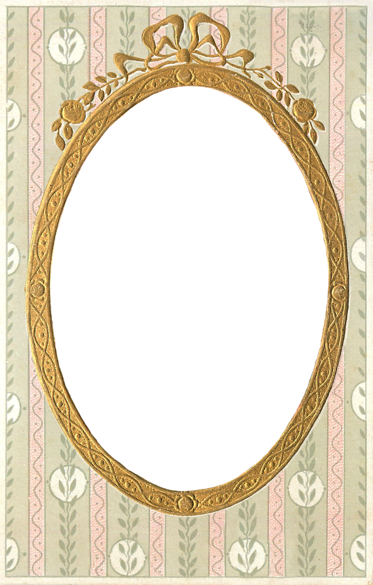 1908 Vintage Gilt Frame – free PNG file | Wings of Whimsy