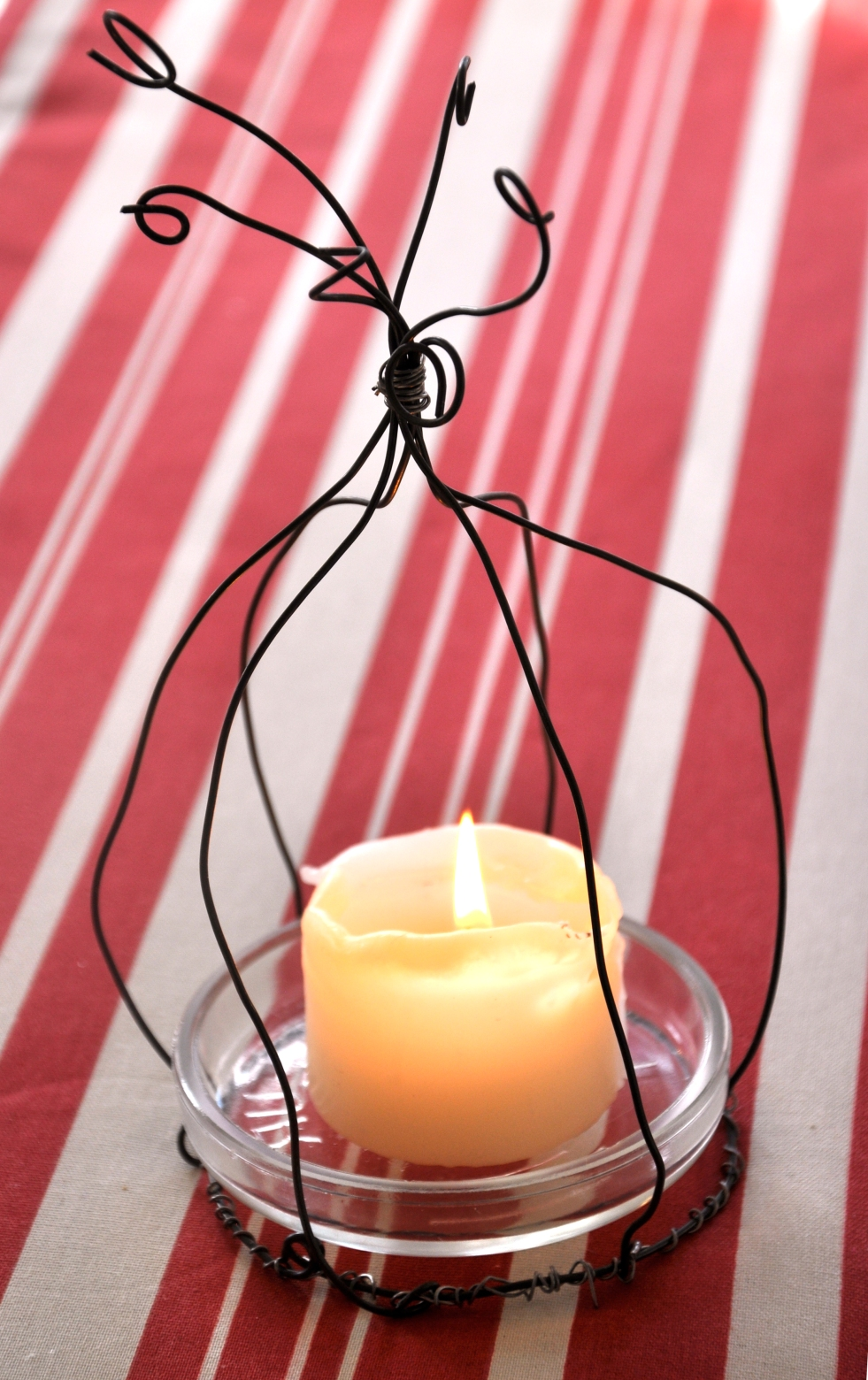 Wings of Whimsy: DIY Fil de Fer Candle Cage