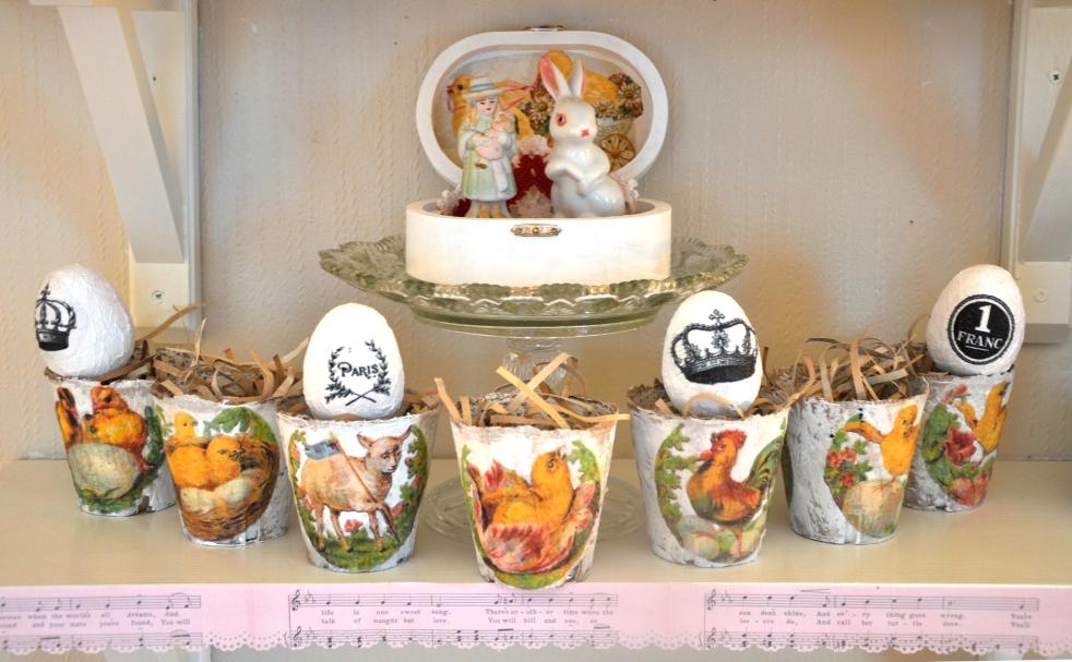 Wings of Whimsy: Easter Peat Pots #vintage #printable #scraps #ephemera #freebie #easter