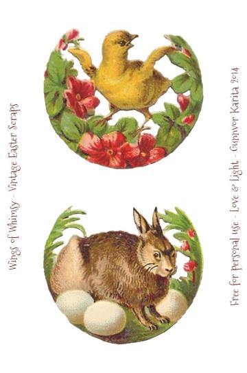 Wings of Whimsy: Easter Scraps - free for personal use #vintage #ephemera #printable #freebie #easter