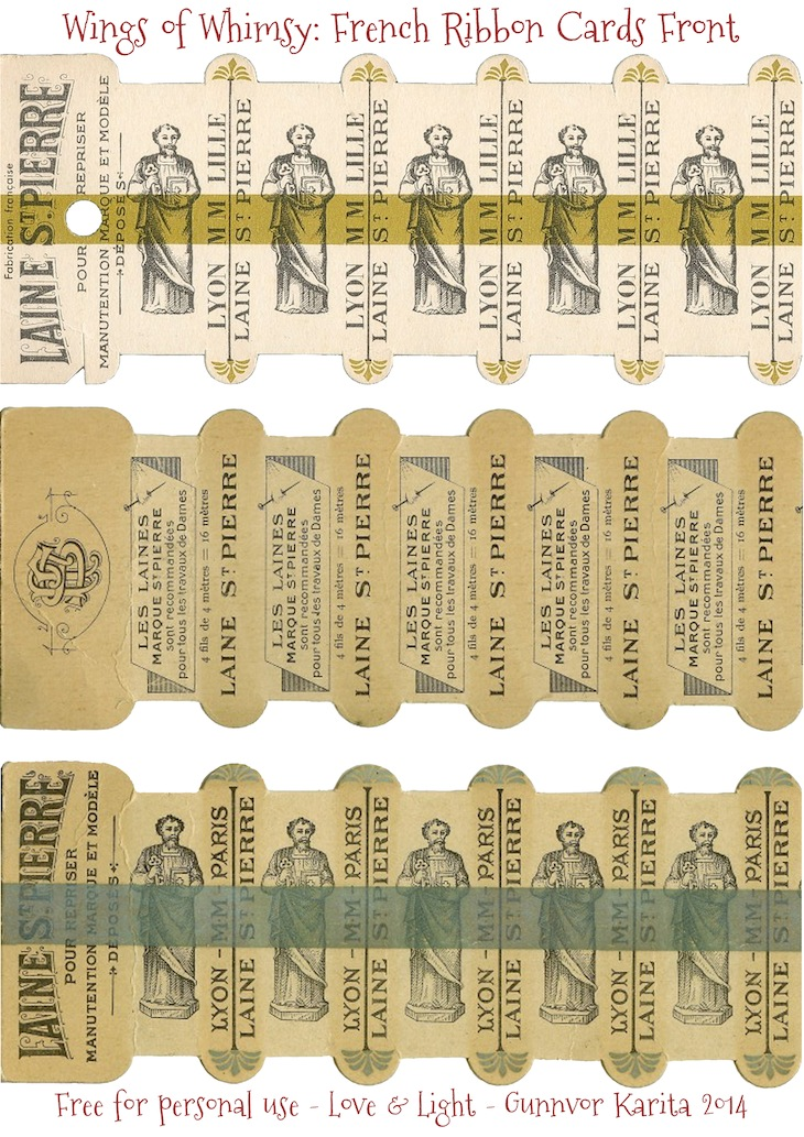 Wings of Whimsy: Laines St Pierre Thread Cards - free for personal use #vintage #ephemera #printable #freebie #sewing