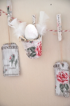 Wings of Whimsy: Easter Decoupage - #diy #napkins #easter