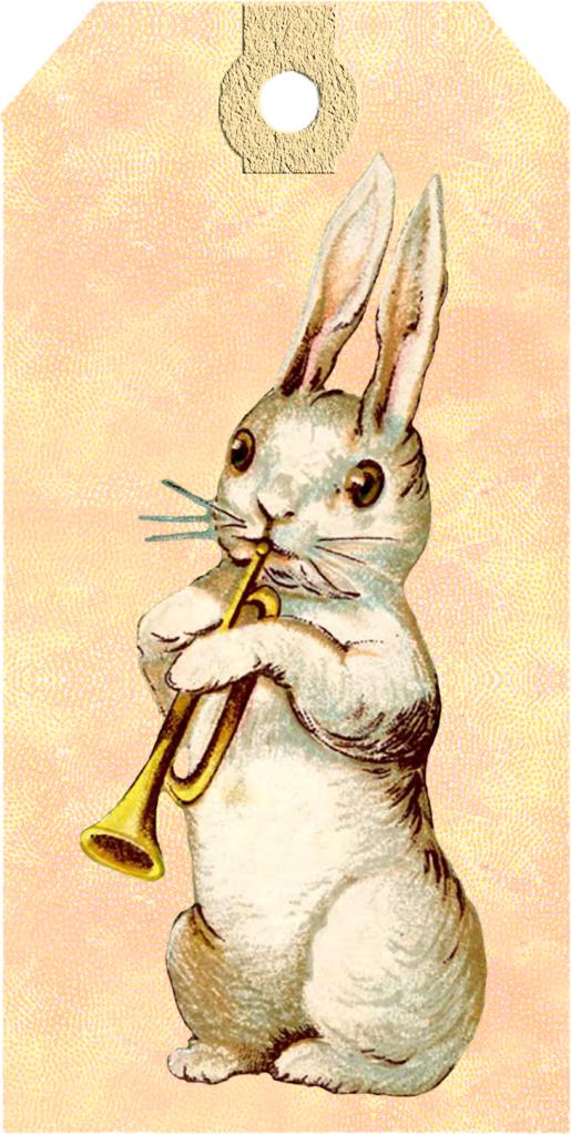 Wings of Whimsy: Vintag Easter Bunny Tag - Set of 6 different ones -  free for personal use #vintage #easter #ephemera #freebie #printable #easter