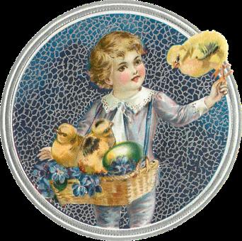 Wings of Whimsy: Easter Children Scrap - free for personal use #vintage #ephemera #printable #freebie #easter #scrap