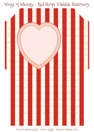 Wings of Whimsy: Red Striped Foldable Stationery #vintge #french #ephemera #stationery #freebie #printable