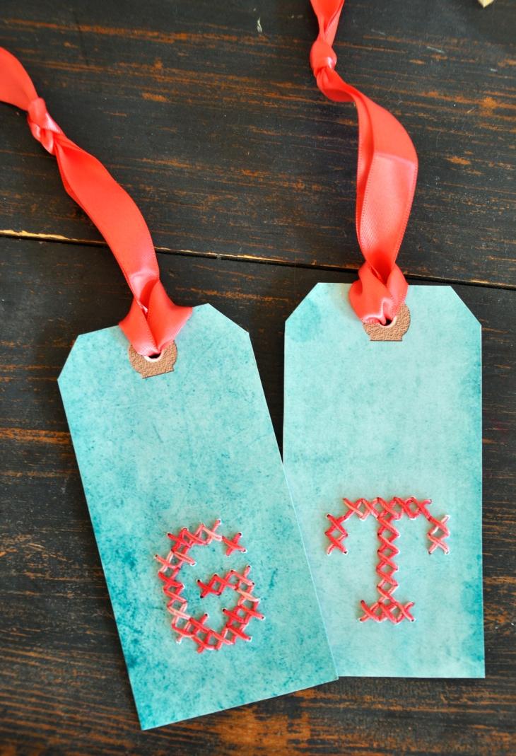 Wings of Whimsy: DIY Embroidered Alphabet Tags #vintage #ephemera #printabel #freebie #diy