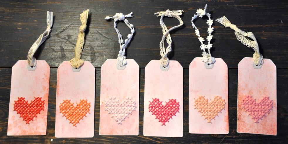 Wings of Whimsy: DIY Embroidered Heart Tags #vintage #ephemera #printable #freebie #diy