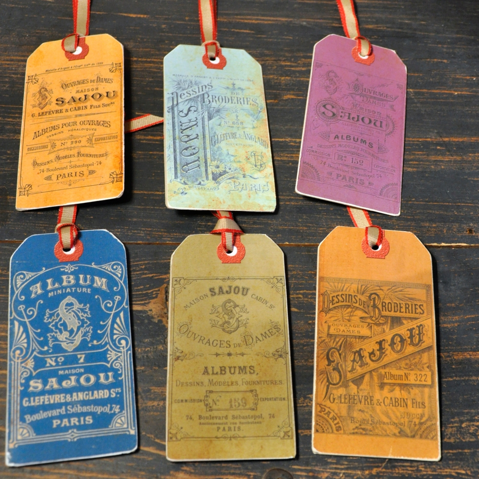 Wings of Whimsy: DIY French Embroidery Tags #vintage #ephemera #printable #freebie #diy