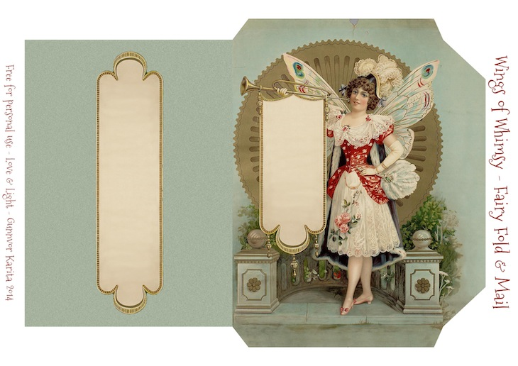 Wings of Whimsy: Dutch Fairy Fold & Mail Stationery #vintage #ephemera #freebie #printable #stationery