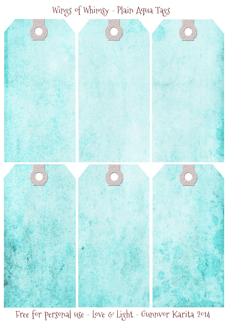 Wings of Whimsy: Plain Aqua Tags #vintage #ephemera #printable #freebie #diy