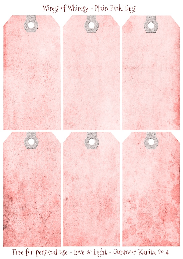 Wings of Whimsy: Plain Pink Tags #vintage #ephemera #printable #freebie #diy