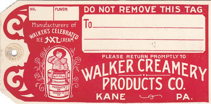 Wings of Whimsy: Walker Creamery Ice Cream Tag #vintage #ephemera #printable #freebie